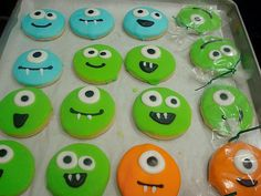 monster cookies- baby shower