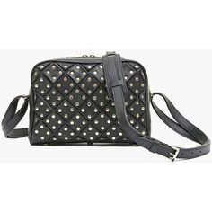 Studded leather mini Pierre | Women's bags | Balmain ($1,985) ❤ liked on Polyvore featuring bags, handbags, balmain purse, studded leather bag, balmain handbags, mini handbags and studded leather handbags