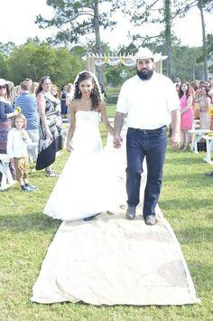 Rustic wedding outdoor