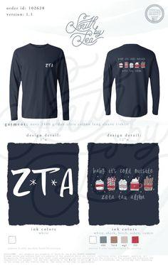 Zeta Tau Alpha   ZTA   Baby Its Cold Outside   Cute Winter Sorority Designs   South by Sea   Greek Tee Shirts   Greek Tank Tops   Custom Apparel Design   Custom Greek Apparel   Sorority Tee Shirts   Sorority Tanks   Sorority Shirt Designs