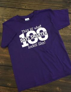 100th Day of School Shirt One Hundred Days Smarter by MissyLuLus