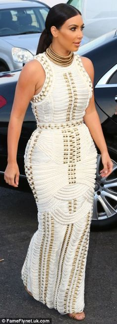 With a back drop of the Mediterranean Sea, the Keeping Up With The Kardashian star looked simply radiant as she made her way down the red carpet