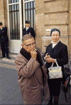 Gisèle Freund: Jean-Paul Sartre und Simone de Beauvoir, Paris, 1966 ©
