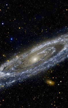 Study of Andromeda's stellar disk indicates more violent history than Milky Way http://www.sciencedaily.com/releases/2015/01/150108184326.htm