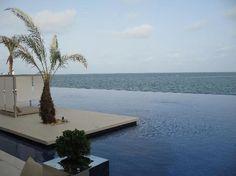 At Radisson Blu Dakar Senegal, the swimming pool ends where the sea begins.