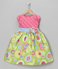 Take a look at this Fuchsia & Green Garden Dress - Toddler & Girls by Pretty Me on #zulily today!