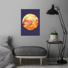 Play Circle 4 detailed, premium quality, magnet mounted prints on metal designed by talented artists. Our posters will make your wall come to life. Pop Art Posters, Print Artist, Cool Artwork, Metal, Modern, Plate, Art Prints, Interior Design, Abstract