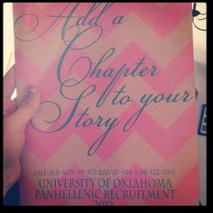 """What a great way to tell the """"story"""" of recruitment to potential new members."""