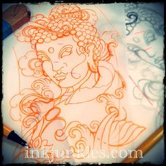 Sketchin' (2012)  #tattoo #tattoos #tattooing #tattooed #tattooart #ink #inked #inking #inkedup #koi #fish #psychedelic #oriental #waves #water #sleeve #halfsleeve #colortattoo #tatouage #luxembourg #luxembourgcity #buddha #art #artwork #bodyart #bodymodification #sketch #design #drawing #