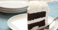 Gluten-free Dark Chocolate Cake with Coconut Frosting Gluten Free Chocolate Cake, Decadent Chocolate Cake, Dark Chocolate Cakes, Chocolate Cake Mixes, Coconut Chocolate, Coconut Frosting, Gluten Free Cakes, Cream Cake, Let Them Eat Cake