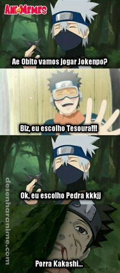 Ideas For Memes Anime Portugues Naruto Meme, Kakashi Memes, Kakashi Sensei, Naruto Funny, Anime Meme, Otaku Anime, Manga Anime, Boruto, Anime Naruto