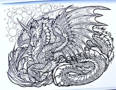 Amazon Dragon Adventure A Kaleidoscopia Coloring Book 9781515255154 Rachael
