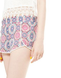 Bershka Ukraine - BSK print shorts