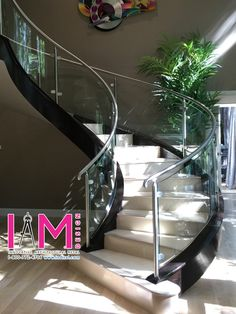 A complete stair transformation at the Nguyen residence. Visit the website for more, or call us at and schedule a free estimate today! Modern Stair Railing, Modern Stairs, Staircase Design, Stairs Architecture, Paint Colors For Living Room, House Rooms, Home Interior Design, My Dream Home, Modern Design