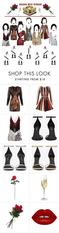 """«PERFORMANCE» INKIGAYO [BLAST OFF] GB STAGE"" by cw-entertainment ❤ liked on Polyvore featuring Balmain, Yves Saint Laurent, Zuhair Murad, Versace, Altuzarra, Audio-Technica, Nearly Natural, Wine Enthusiast and Hanky Panky"