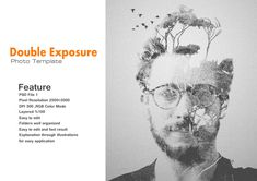 Double Exposure Photoshop Action Take your work to the next level and be more distinctive through the double effects photo in a fantastic form and through few simple clicks to have the most profess...
