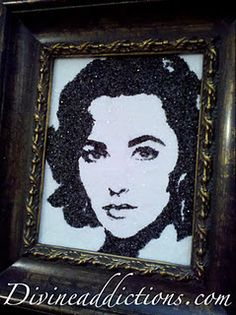 Liz Taylor  Crushed Glass Painting www.divineaddictions.com
