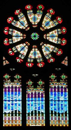 Rose window - Assumption RC Church  435 Amherst Street, Buffalo, NY 14207 #vitraux #stained-glass