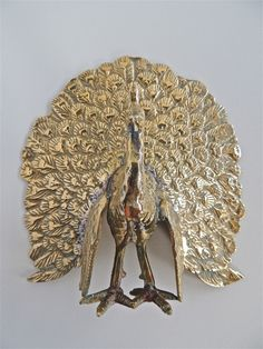 Brass Peacock - 16cm
