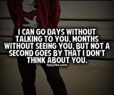Don't stop thinking about you...