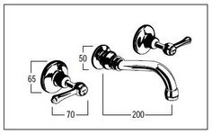 Aerated Outlet Brass Bath Taps Set - Roulette Lever Handles - Olde Adelaide