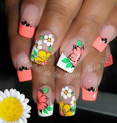 French Nail Art, French Nail Designs, Toe Nail Designs, Wow Nails, Cute Nails, Pretty Nails, Nails Ideias, Nail Salon Design, Funky Nails