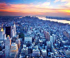Skyline of New York City...