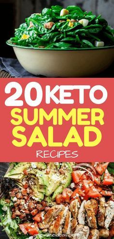 20 Best Keto Summer Salad Recipes To Celebrate The Season Worried about high-carb salad dishes that don't provide enough protein and fat to support your diet? Well, you won't have to with our wide array of keto summer salad recipes! Keto Foods, Ketogenic Recipes, Low Carb Recipes, Diet Recipes, Healthy Recipes, Paleo Diet, Keto Meal, Cooking Recipes, Summer Salad Recipes