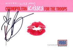 Rachel Bilson #kissesforthetroops    Submit your virtual kiss at Cosmopolitan.com/kisses & we'll donate a dollar to USO!