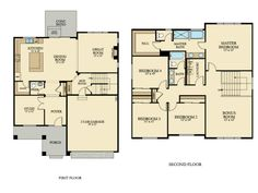 The Fairfield Home - 2,576 square feet with 4 bedrooms and 2.5 baths.
