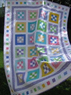 Hand Quilted Twin Patchwork Quilt