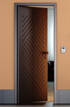 Artistic Wooden Door Design Ideas To Try Right Now 33 Wooden Front Door Design, Wooden Front Doors, Bedroom Door Design, Door Design Interior, Modern Interior Doors, Exterior Design, Bedroom Doors, Single Main Door Designs, Modern Wooden Doors