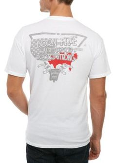 Saturday Down South Men's Short Sleeve Tee South America - White - Xl