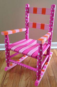Children's Wooden Rocking Chair FREE SHIPPING by BellasToyBox, $174.99