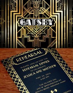 Great Gatsby Inspired invitation