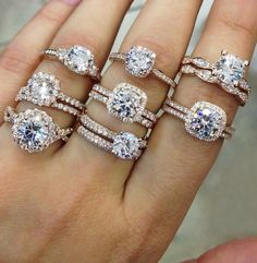 Square engagement rings