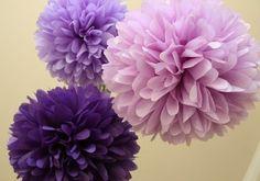 ENTRE MIM E VOCÊ - NÓS: PAPEL CREPOM - decoração para casamento - buques cores: lilás/azul/branca-verde