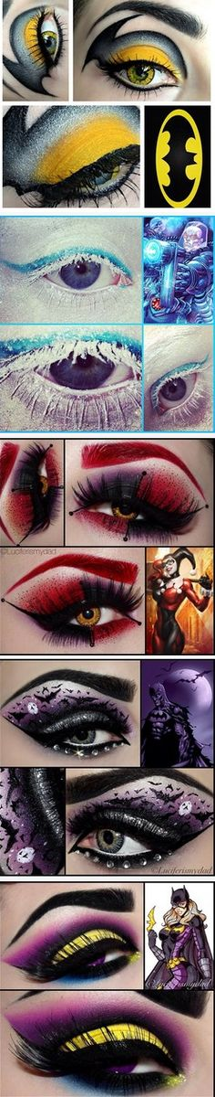 Bat Man Eye Makeup