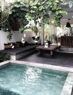 Everybody likes luxury pool styles, aren't they? Here are some top listing of luxury swimming pool picture for your motivation. These fanciful pool design ideas will change your backyard into an exterior sanctuary. Small Inground Pool, Small Swimming Pools, Small Pools, Small Backyards, Small Pool Ideas, Lap Pools, Pool Decks, Small Yards With Pools, Small Decks
