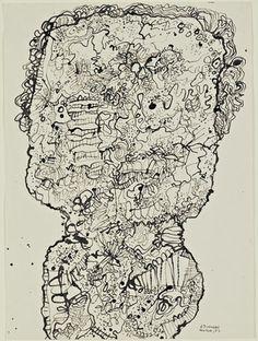 Jean Dubuffet. Evolving Portrait (Portrait aux développements). 1952