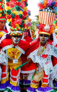 Congos at the Barranquilla's Carnival, Atlántico department, #Colombia. Visit our website: http://www.going2colombia.com/