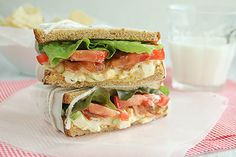 Egg Salad BLTs. Good idea for leftover hard boiled easter eggs.