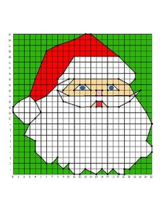 Santa Christmas Holiday Coordinate Graphing / Ordered Pairs Practice