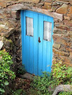 Blue cottage door by juliedawnfox