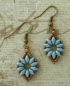 "Linda's Crafty Inspirations: Earrings to go with the ""Mystery SuperDuo Bracelet"""