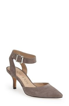 Free shipping and returns on Sole Society 'Olyvia' Suede Pump (Women) at Nordstrom.com. A sleek, clean silhouette defines a suede d'Orsay pump with a trend-right pointed toe and a walkable heel.