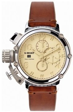 U-Boat Watch Chimera 48 925 Silver Limited Edition #bezel-fixed #bracelet-strap-leather #brand-u-boat #case-material-silver #case-width-48mm #chronograph-yes #date-yes #delivery-timescale-call-us #dial-colour-cream #gender-mens #limited-edition-yes #luxury #movement-automatic #official-stockist-for-u-boat-watches #packaging-u-boat-watch-packaging #style-dress #subcat-chimera #supplier-model-no-7115 #warranty-u-boat-official-2-year-guarantee #water-resistant-50m