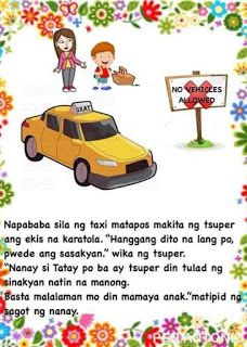 Teacher Fun Files: DIY Big Book: Ang Eroplano ni Tatay Moral Stories For Kids, Short Stories For Kids, Kids Story Books, Reading Passages, Reading Comprehension, Shapes Worksheets, Visual Aids, Tagalog, Picture Cards