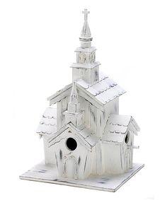 Little White Chapel Birdhouse