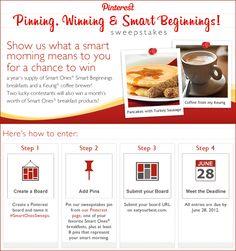 Weight Watchers® Smart Ones® Pinning, Winning & Smart Beginnings Sweepstakes